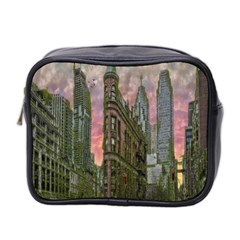 Flat Iron Building Toronto Ontario Mini Toiletries Bag 2 Side