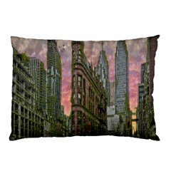 Flat Iron Building Toronto Ontario Pillow Case (two Sides)