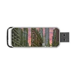 Flat Iron Building Toronto Ontario Portable Usb Flash (two Sides) by Nexatart