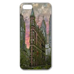 Flat Iron Building Toronto Ontario Apple Seamless Iphone 5 Case (clear) by Nexatart