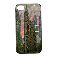 Flat Iron Building Toronto Ontario Apple Iphone 4/4s Hardshell Case With Stand by Nexatart