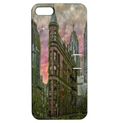 Flat Iron Building Toronto Ontario Apple Iphone 5 Hardshell Case With Stand by Nexatart