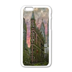 Flat Iron Building Toronto Ontario Apple Iphone 6/6s White Enamel Case