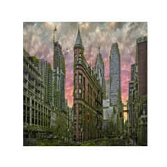 Flat Iron Building Toronto Ontario Small Satin Scarf (square)