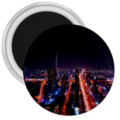 Dubai Cityscape Emirates Travel 3  Magnets by Nexatart