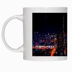 Dubai Cityscape Emirates Travel White Mugs by Nexatart
