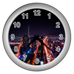 Dubai Cityscape Emirates Travel Wall Clocks (silver)  by Nexatart