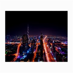 Dubai Cityscape Emirates Travel Small Glasses Cloth
