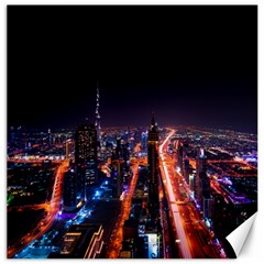Dubai Cityscape Emirates Travel Canvas 16  X 16