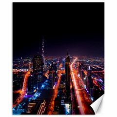 Dubai Cityscape Emirates Travel Canvas 16  X 20