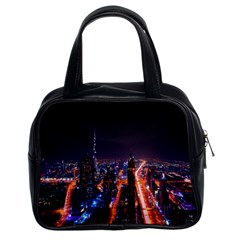 Dubai Cityscape Emirates Travel Classic Handbags (2 Sides) by Nexatart