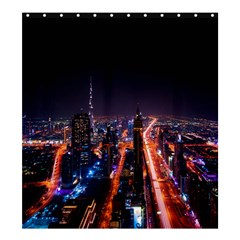 Dubai Cityscape Emirates Travel Shower Curtain 66  X 72  (large)