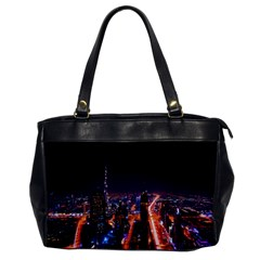 Dubai Cityscape Emirates Travel Office Handbags