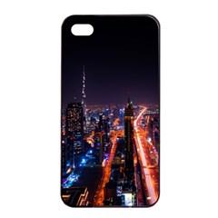 Dubai Cityscape Emirates Travel Apple Iphone 4/4s Seamless Case (black) by Nexatart