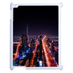 Dubai Cityscape Emirates Travel Apple Ipad 2 Case (white) by Nexatart