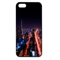 Dubai Cityscape Emirates Travel Apple Iphone 5 Seamless Case (black)
