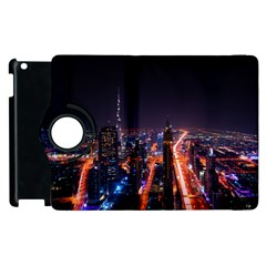Dubai Cityscape Emirates Travel Apple Ipad 3/4 Flip 360 Case by Nexatart