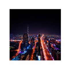 Dubai Cityscape Emirates Travel Small Satin Scarf (square) by Nexatart