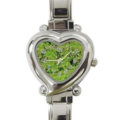 Greenery Paddy Fields Rice Crops Heart Italian Charm Watch