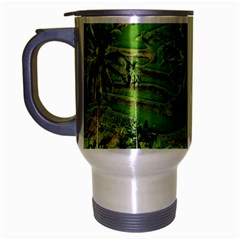 Greenery Paddy Fields Rice Crops Travel Mug (silver Gray)