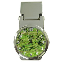 Greenery Paddy Fields Rice Crops Money Clip Watches by Nexatart