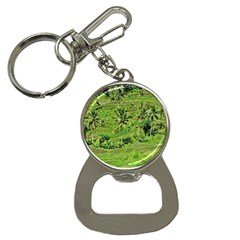 Greenery Paddy Fields Rice Crops Button Necklaces by Nexatart