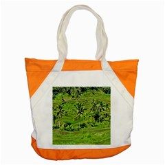 Greenery Paddy Fields Rice Crops Accent Tote Bag