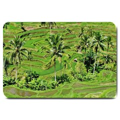 Greenery Paddy Fields Rice Crops Large Doormat