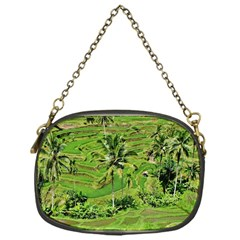 Greenery Paddy Fields Rice Crops Chain Purses (one Side)