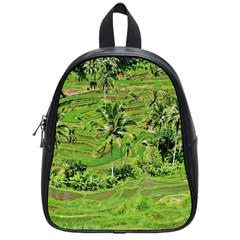 Greenery Paddy Fields Rice Crops School Bag (small) by Nexatart