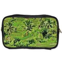 Greenery Paddy Fields Rice Crops Toiletries Bags