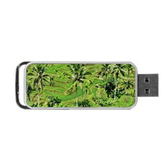 Greenery Paddy Fields Rice Crops Portable Usb Flash (one Side)
