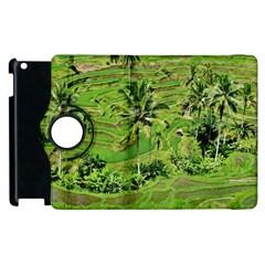 Greenery Paddy Fields Rice Crops Apple Ipad 2 Flip 360 Case