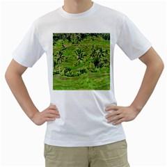 Greenery Paddy Fields Rice Crops Men s T-Shirt (White)