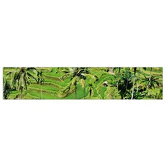 Greenery Paddy Fields Rice Crops Flano Scarf (Small)