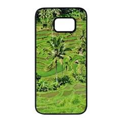 Greenery Paddy Fields Rice Crops Samsung Galaxy S7 edge Black Seamless Case