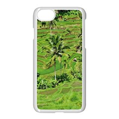 Greenery Paddy Fields Rice Crops Apple Iphone 7 Seamless Case (white)