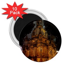 Dresden Frauenkirche Church Saxony 2 25  Magnets (10 Pack)  by Nexatart