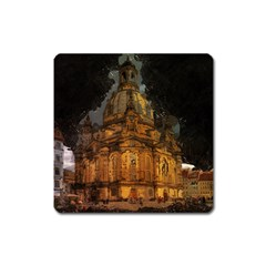Dresden Frauenkirche Church Saxony Square Magnet