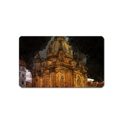 Dresden Frauenkirche Church Saxony Magnet (name Card) by Nexatart