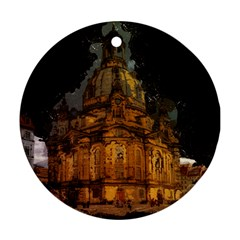 Dresden Frauenkirche Church Saxony Round Ornament (two Sides)