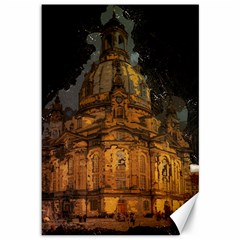 Dresden Frauenkirche Church Saxony Canvas 12  X 18