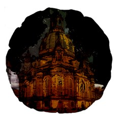 Dresden Frauenkirche Church Saxony Large 18  Premium Round Cushions by Nexatart