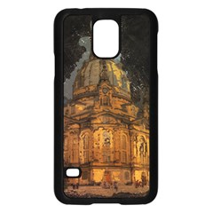 Dresden Frauenkirche Church Saxony Samsung Galaxy S5 Case (black) by Nexatart