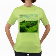 Bali Rice Terraces Landscape Rice Women s Green T Shirt