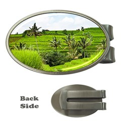 Bali Rice Terraces Landscape Rice Money Clips (oval)