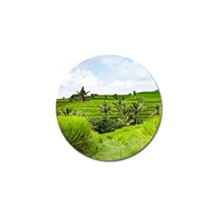 Bali Rice Terraces Landscape Rice Golf Ball Marker
