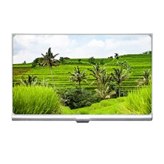 Bali Rice Terraces Landscape Rice Business Card Holders by Nexatart