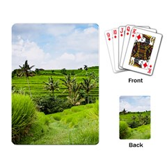 Bali Rice Terraces Landscape Rice Playing Card
