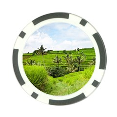 Bali Rice Terraces Landscape Rice Poker Chip Card Guard